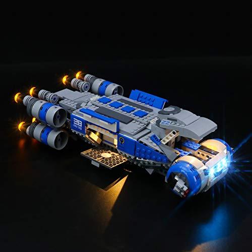 BRIKSMAX Kit de iluminación LED paraStar WarsTransporte I-TS de Resistencia - Compatible con Lego 75293 Building Blocks Model- No incluir el Conjunto de Lego