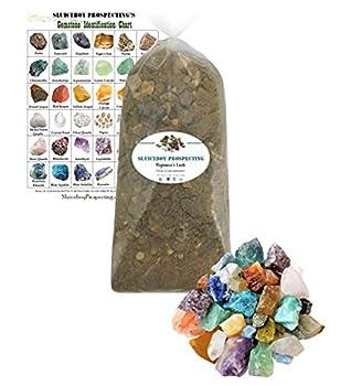 Sluiceboy Prospecting 5 POUNDS Gemstone Paydirt | Gem Mining Rough Stone Mix | Guaranteed Gems | Rock Dig Gem Dig