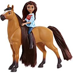 "Relive the adventures of Lucky, Spirit, and all their friends from the DreamWorks Animation Television series, Spirit Riding Free! Collect all the Doll and Horse Sets. Each sold separately. Each set includes: one 5"" doll and one 7"" horse. Each doll f..."