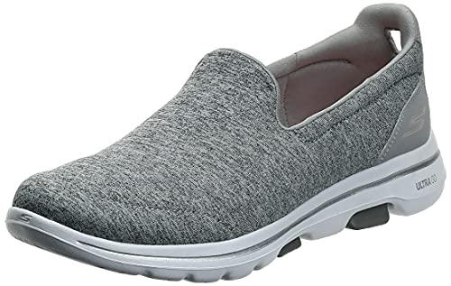 Skechers Women's GO Walk 5-Honor Sneaker, Gray, 10 W US