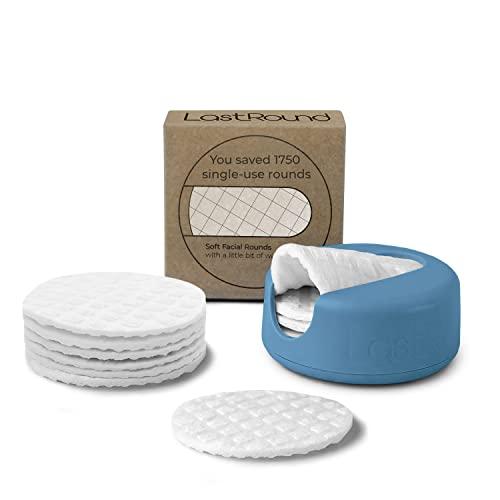 LastRound bawełniane płatki wielokrotnego użytku firmy LastObject - przyjazna dla środowiska alternatywa dla jednorazowego użytku bawełnianych okrągłych - składa się z 7 podkładek do usuwania makijażu wielokrotnego użytku - Made in Danii