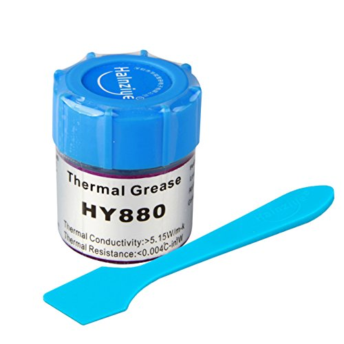1 Stück Wärmepaste Glas 10g HALNZIYE HY880 grau > 5,15 W/m-K Temperaturbereich -30 + 280 °C Gesamtinhalt 10 g Thermalfett Kühlpaste