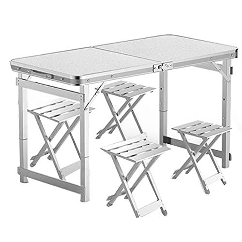 Mesa de picnic plegable de aleación de aluminio, mesa de camping portátil...