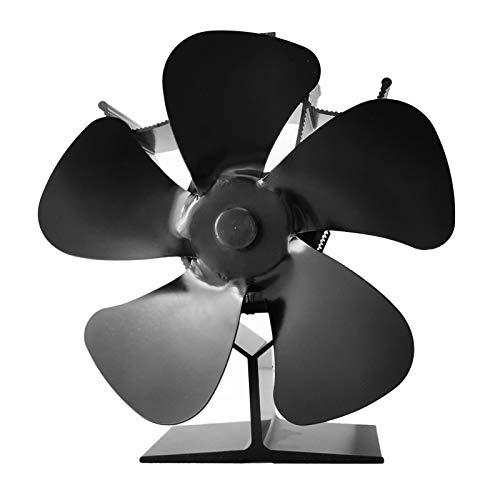 Ventilador de estufa de leña de 5 cuchillas, motor silencioso mejorado, circula el aire caliente/calentado, ventilador ecológico para estufas de gas, pellets, leña/leña