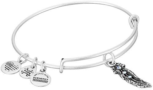 Alex and Ani Feather Expandable Charm Bracelet, Rafaelian Silver-Tone
