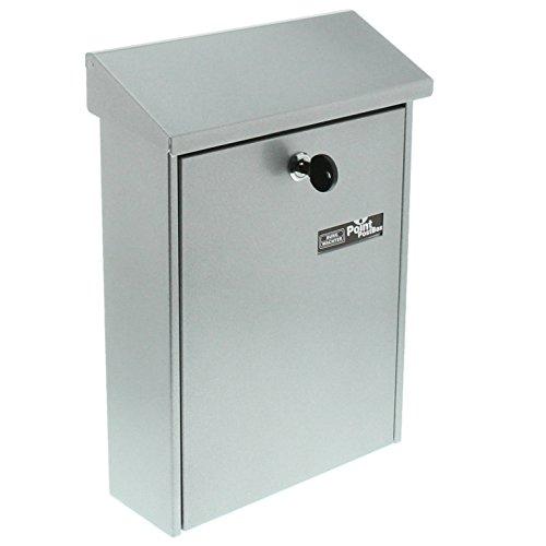 BURG-WÄCHTER, Briefkasten mit aufklappbarem Regendach, A4 Einwurf-Format, Verzinkter Stahl, Daily 5861 Si, Silber