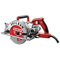 Die-cast aluminum motor and gear housings for durability 22-Amp switch and heavy-gauge cord Precision-machined, durable worm-drive gears for longer tool life Exclusive 53 degree bevel feature with 7 1/4-inch blade is ideal for angled cuts Diablo blad...