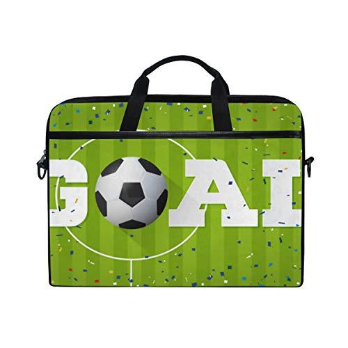 BEITUOLA 15-15.4 Zoll Laptop Taschen,Ziel Fahnen Fußball Papierkonfettis,Verschiedene Muster multifunktionale Laptop Tasche tragbare Hülle Aktentasche Umhängetasche