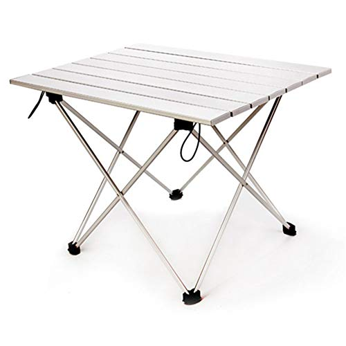 N / A Foldable Portable Aluminum Alloy Folding Beach Table, Ultra-Light and Durable Portable Camping Table, Suitable for Outdoor Picnic Barbecue Cooking