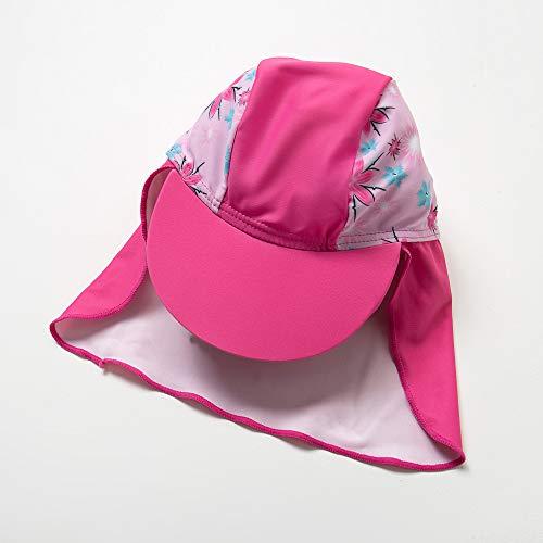 『BONVERANO ベビー 水着 UPF50+ UVカット 女の子 長袖 ワンピース ラッシュガード キャップ付き (Rosy, 74-80cm)』の6枚目の画像