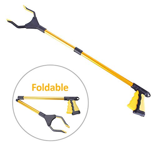 Grabber Reacher Tool for Elderly,Folding Pick up Tool,32', Pick up Tools Can Effectively Help The Elderly Reaching Tool Trash Picker .Trash Picker Tool.Extender Gripper Tool with Rotating Gripper