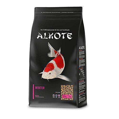 AL-KO-TE, 1-Jahreszeitenfutter für Kois, Winter, Sinkende Pellets, 4,5 mm, Hauptfutter Winter, 1,5 kg