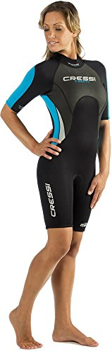 Cressi Tahiti, Ladies' & Men's Wetsuit, Ultra Span Neoprene, for Diving, Surfing, Snorkeling, Scuba - Designed in Italy: quality since 1946