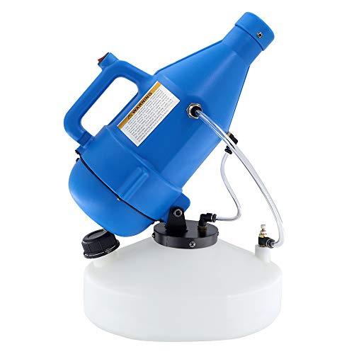 4.5L ULV pulverizador nebulizador eléctrico,1400W portatil fogger máquina de desinfección 8-10m distancia de pulverización para la jardin escuela hotel hospital