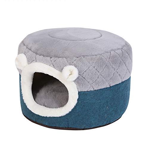 JIU SI Casa de Copa de Gato extraíble Cojín de Peluche Suave Cojín de Cachorros Pequeños Perros Pequeños Gatos Nido Invierno Cálido Dormir Pet Dog Dog Bed Mat Mat Supplies (Size : Small)