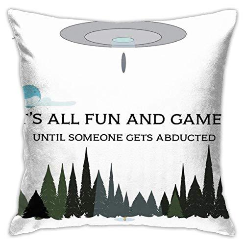 All Fun and Games Funda de Almohada Cuadrada Funda de Almohada Cojín para sofá Cojín para Coche Decoraciones para Interiores Funda de Almohada para Silla