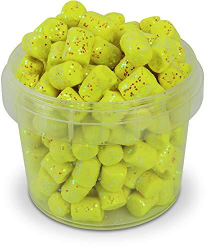Storfisk fishing & more Marshmallows zum Forellenangeln, mit Glitter-Effekt, geruchsintensiv, 60 g, Farbe :Gelb