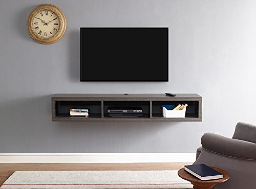 Martin Furniture Floating Tv Console, 60', Skyline Walnut
