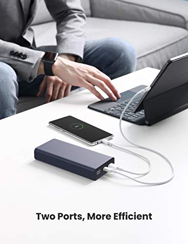 UGREEN Portable Charger 20000mAh PD Power Bank QC 3.0 18W USB C Power Bank 2-Port Power Delivery External Battery Compatible with iPhone 12 Pro 11 Pro Max iPad Pro Samsung Galaxy & More
