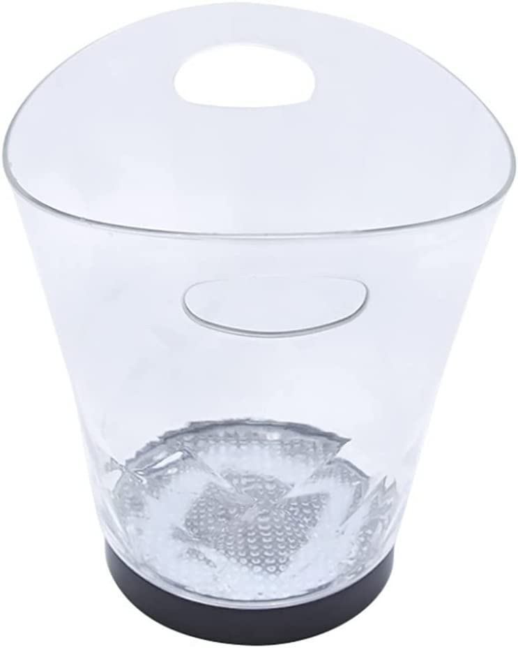 FUNCOCO Ice Buckets LED Clear Co Fees free Bucket Liter 5 Special price