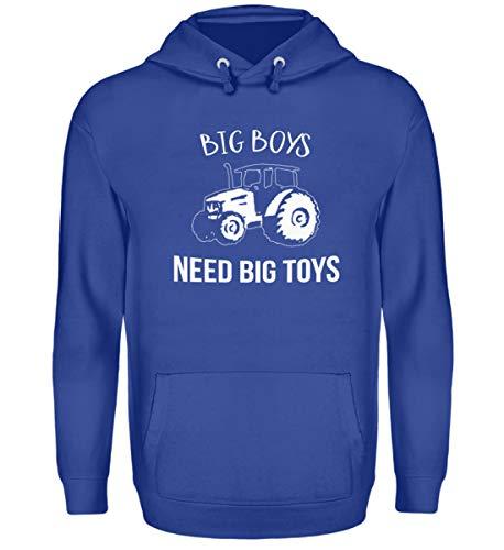 Sudadera con capucha unisex con capucha para niños grandes azul real XXXL