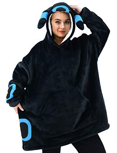 vavalad Wearable Blanket Sweatshirt Sherpa Oversized Hoodie TV-Blanket...