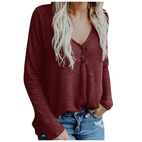 Dasongff Sudadera de punto para mujer, cuello en V, manga larga, suéter de punto, moderno, para exterior, abrigo