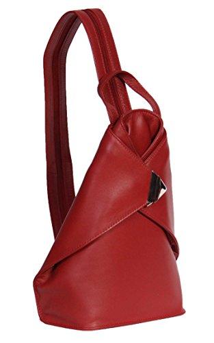 Sac à Dos En Cuir De Luxe Pour Femme A59 Rouge Rucksack Sac De Sport Randonnée Organisateur NOUVEAU