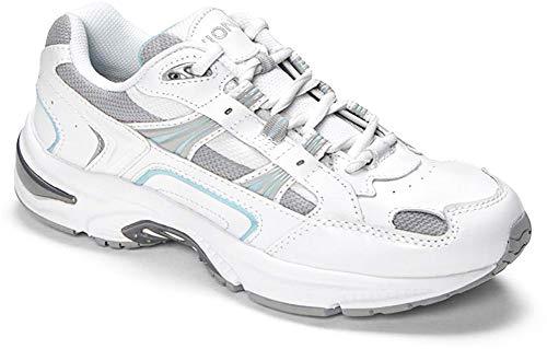 Vionic Women's Walker Classic Shoes, 10 C/D US, White/Blue