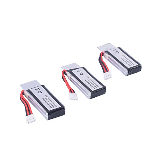 YouCute 3pcs 3.7V 350mAh Battery for UDI U818A WiFi FPV Discovery-WiFi,U845 Voyager-WiFi RC Quadcopter Drone Spare Parts (3 Batteries)