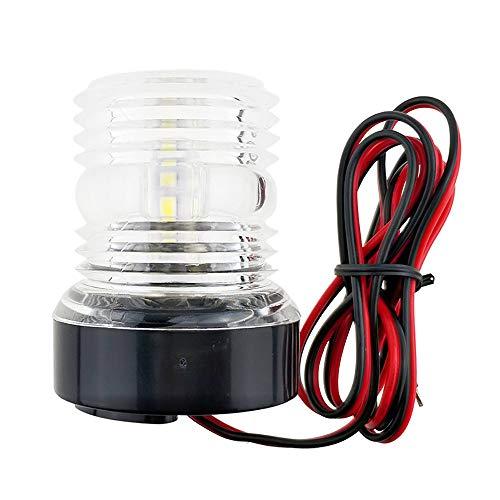 Winbang Marine-Bootsleuchte, 360 ° LED Bootsleuchte Yachtnavigation Ankerlichter Signalleuchte Wasserdicht Spritzwassergeschütztes Weißes 12V Licht