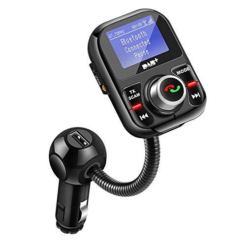 CareMont Coche Dab Autoradio Adaptador Autoradio Radio Digital Manos Libres Transmisor FM Recarga USB U/TF Musik