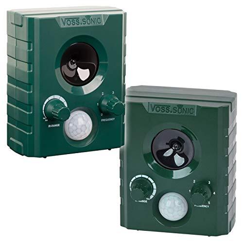 VOSS.sonic 1000 Doppelpack 2X Ultraschallvertreiber Tiervertreiber Ultraschallabwehr Tierabwehr Vertreibung durch Ultraschall und Alarm