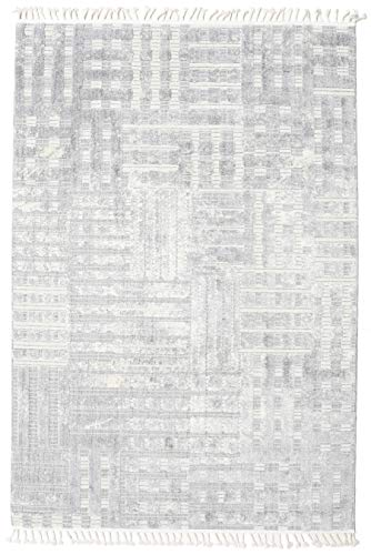 CarpetVista Alfombra Ambassador, Pelo Largo, 300 x 400 cm, Rectangular, Moderna, Shaggy, Oeko-Tex Estándar 100, Polyester, Cocina, Salón, Comedor, Gris