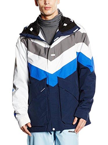 Armada Ski-Jacke Bomb Pop Jacket blau/weiß/grau S