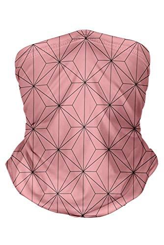 Anime Print Scarf Bandanas Balaclava Face Cover Breathable Multifunctional Neck Gaiter for Wind Sun Dust Proof