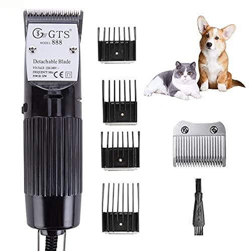 Cortapelos Eléctricos para Mascotas 30W,Afeitadora para Mascotas,Peluquería Profesional para Perros Cortadoras Eléctricas...