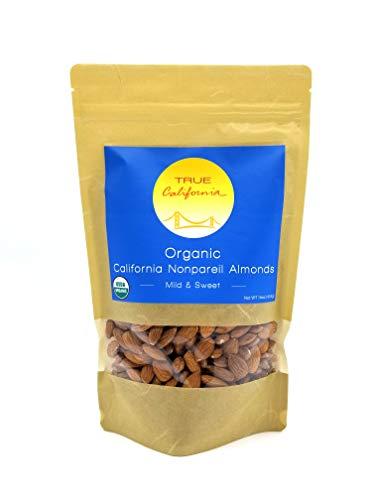 True California Organic US Supreme #1 Raw Almonds (Nonpareil, 1lb)