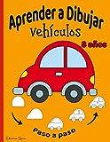Aprender a Dibujar lindos Vehiculos niños 8 años: 40 Dibujos paso a paso | Para principiantes, niños pequeños y principiantes mayores ( Carro Moto Bicicleta Bote Avión etc...)