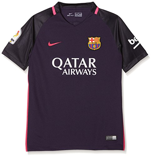 Nike Kids' Barcelona 2017 Away stadium Soccer Jersey (Purple) (Youth Medium)