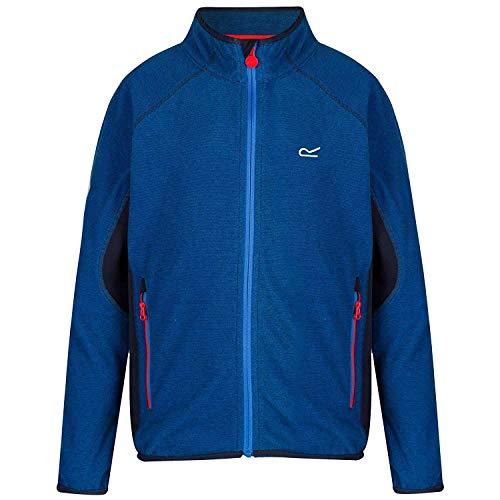 Regatta Kinder Pira Full Zip Extol Stretch Mini Stripe Micro Fleece, Oxford-Blau/Marineblau, Size 9-10