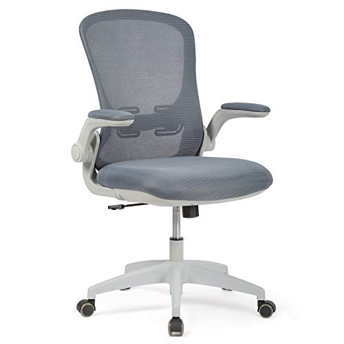 IntimaTe WM Heart Sedia da ufficio, Sedia ergonomica da scrivania, Sedia con bracciolo regolabile, poltrona da ufficio traspirante, sedia girevole, regolabile in altezza, grigio