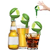HeadLimes Clip-On Citrus Squeezer, Cinco de Mayo Gift, Adds Lime or Lemon Directly to a Drink - Fun Novelty Party Gift, Handheld Juicer or Bar Accessory, 6-Pack Lime Edition