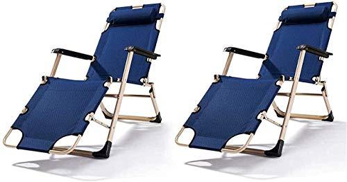 Recliner Lightweight Sun Lounger Foldable Garden Chairs Set of 2 Folding Reclining Sun Lounger,Portable Outdoor Garden Gravity Chair Camping Beach Recliner Bed for ,Conservatory Or Deck Chair Fol hsvb