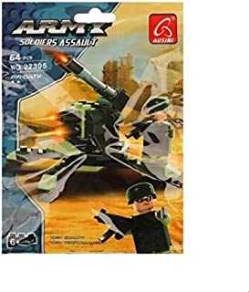 Ausini Army Soldiers Toy for Kids - 64 Pieces