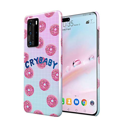 Crybaby Sweet P Glazed Donuts Pattern Hard Thin Plastic Phone Case Cover For Huawei P40 Pro