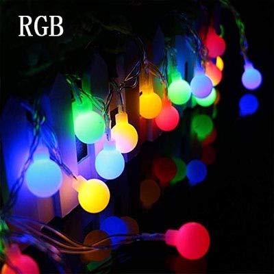 10M 100LED 220V / 110V LED Bola de Luces de Cadena Bombilla de Navidad Guirnaldas de Hadas al Aire Libre para Vacaciones Boda Hogar Lámpara de decoración de año Nuevo