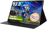 13,3 pollici Monitor Portatile Type-c da 3200x1800 Doppio ingresso USB-C Monitor HDMI Portatile, schermo IPS Perfetto per MacBook Xbox One 360 PS3 / PS4 Windows 7 8 10, Nero, Prechen