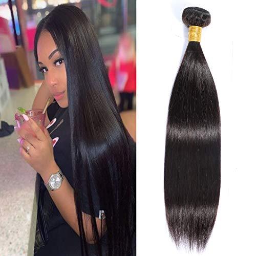Brazilian Straight Hair 1 Bundle Virgin Human Hair Single Bundle 100g Unprocessed Straight Human Hair Bundles,(18' Natural Black)