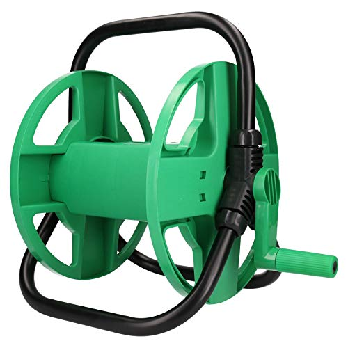 AB Tools-Green Blade Portable Garden Hose Reel for Hoses Up to 30 Metres / 100 Feet in Length